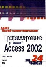 Скачать e-book, книгу Освой самостоятельно программирование для Microsoft Access 2002 за 24 часа.